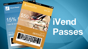 iVend Passes for iPhone and Android